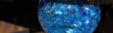 Lighting and Centrepieces: Aqua lights
