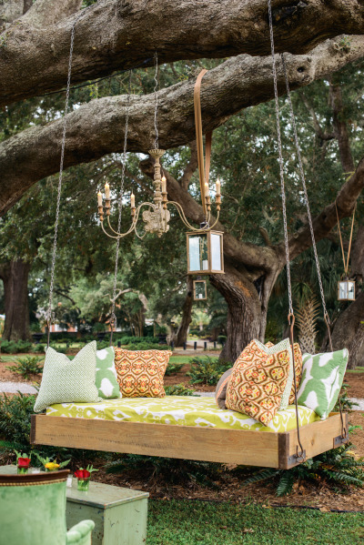 Outdoor Lounge with day bed swing