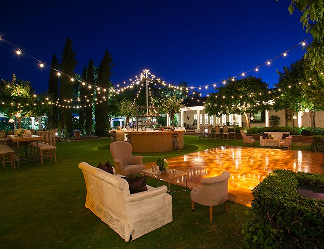 Outdoor Loung areas with Globe Light string