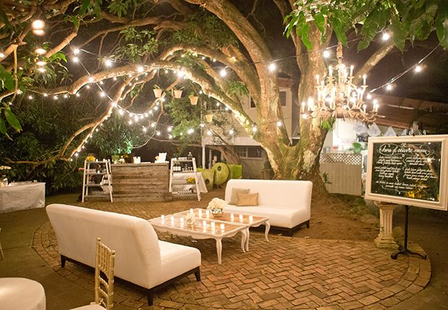 Lit up Outdoor Lounge
