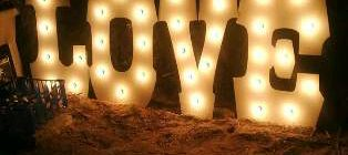 "Globe Light ""LOVE"" Sign  - August SPECIAL!!!!"