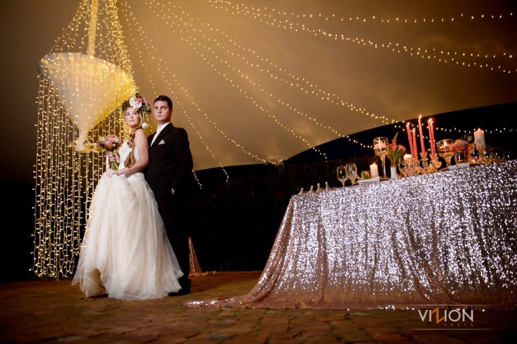 Fairy Lights in Tent at Function Venue
