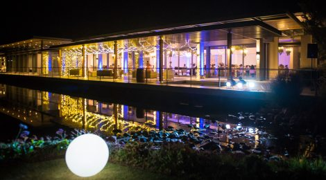 Function Venue with Fairy lights