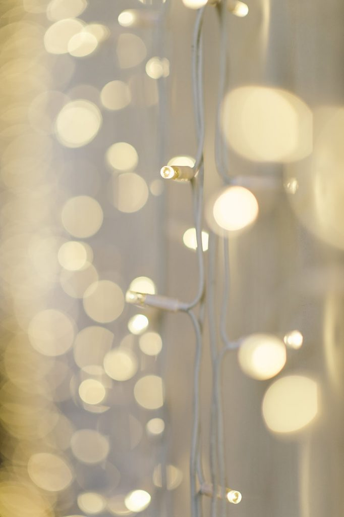 'Close-up of Fairy light curtain'
