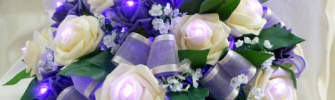 Lighting and Centrepieces: Floral Lights and LED T-Lights