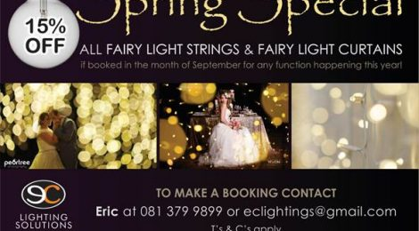 Fairy Lights & Curtains for Hire less 15%